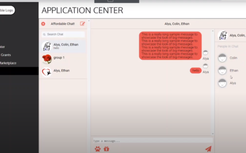 Messaging Page demo